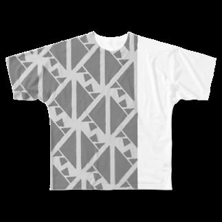 気ままに創作 よろず堂のサーヴィエ行進曲 燻銀 Full graphic T-shirts