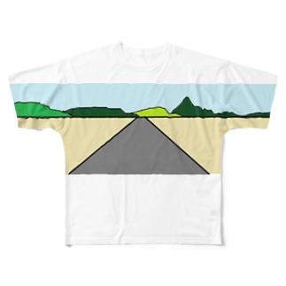ハイウェイー Full graphic T-shirts