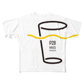 P2B HausのP2B Haus ロゴグッズ Full graphic T-shirts