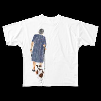 Olu 'OluのWalking around with buddy Full graphic T-shirts