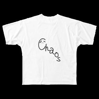 皇月SATSUKIのChaos Full graphic T-shirts