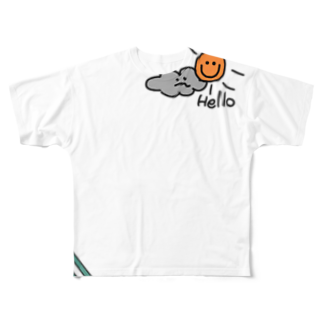 noanoaのHello🌤 Full graphic T-shirts