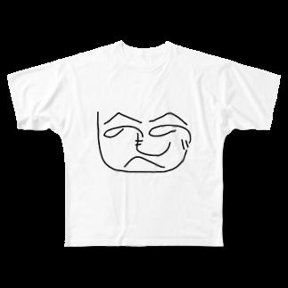 shape-of-heartのへのへのグッズ Full graphic T-shirts