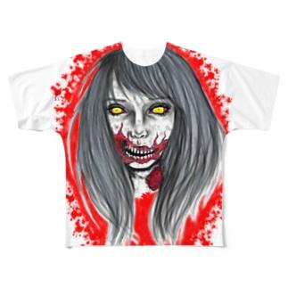 ゾンビ女子 Full graphic T-shirts