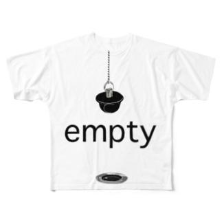 風呂の栓 Full graphic T-shirts