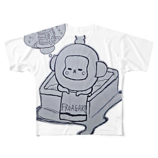 入浴中 ふろあがりちゃん Full graphic T-shirts