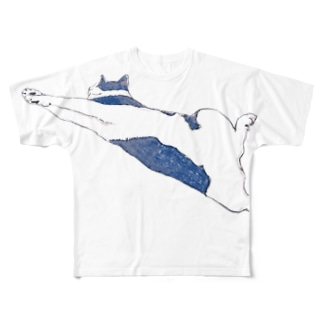 のびのび猫 Full graphic T-shirts