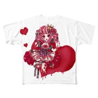 いちご女王1 Full graphic T-shirts