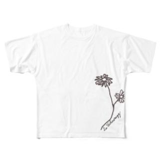 マーガレット Full graphic T-shirts
