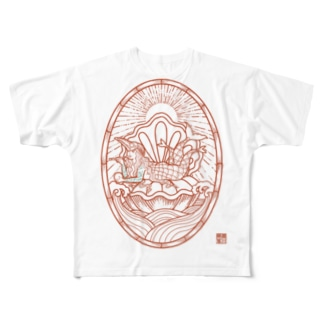 AMBIE 朱 Full graphic T-shirts