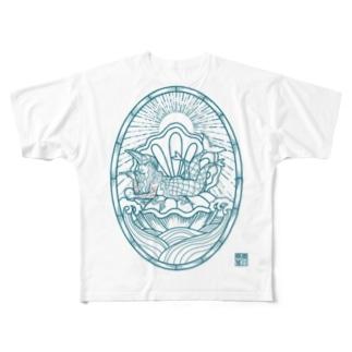 AMABIE 碧 Full graphic T-shirts