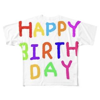 HAPPYBIRTHDAYーお誕生日専用 Full graphic T-shirts