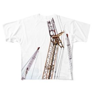クレーン Full graphic T-shirts