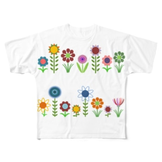 お花たちDとE Full graphic T-shirts