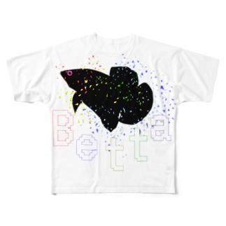 VividFishBetta All-Over Print T-Shirt