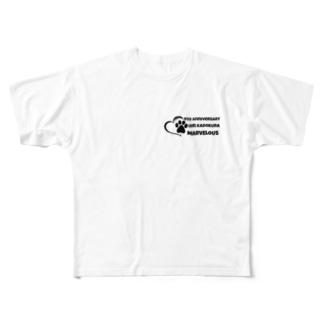 4th Anniversaryグッズ Full graphic T-shirts