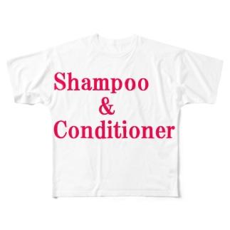 シャンプー コンディショナー Full graphic T-shirts