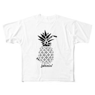 Jahmin' Pine Bong Full graphic T-shirts