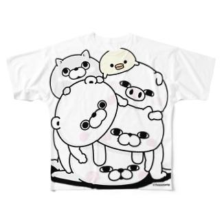 塊(かたまり) Full graphic T-shirts