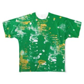 夏の草むら Full graphic T-shirts