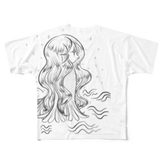 きらきら がーるずのアマビエ様 Full graphic T-shirts
