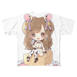 ひなぺち Full graphic T-shirts