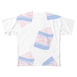 激推し!みるみるくいっぱいTシャツ Full graphic T-shirts