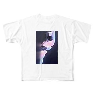 ぐにゃぐにゃ Full graphic T-shirts
