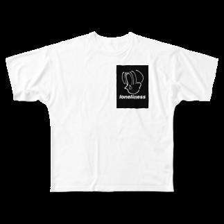 knyのlonliness フルグラフィックTシャツ Full graphic T-shirts