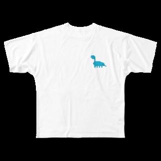 nopiのダイナソーくん🦕 Full graphic T-shirts