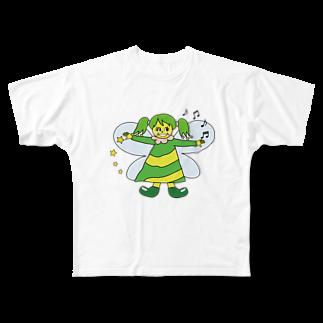 パナウルマジックのフェアリーズ(森の妖精) Full graphic T-shirts