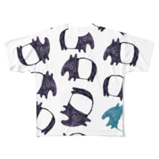 SWのやたらめたらとバク Full graphic T-shirts