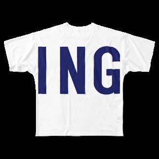アメリカンベースのING Full graphic T-shirts