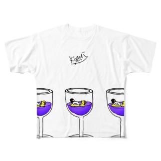 wine🍾 全身タイツのきよみ Full graphic T-shirts