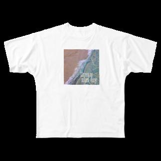 Koco'sのBeach of nice day Full graphic T-shirts