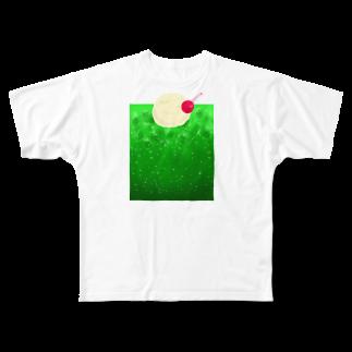 kirin.boutiqueのクリームソーダPOP🍈 Full graphic T-shirts