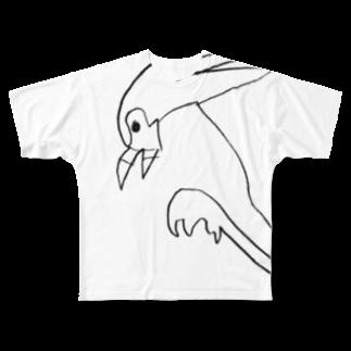 あでり🕊のヘビクイワシ Full graphic T-shirts