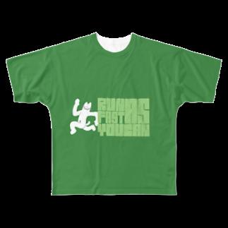 hoge-machaのNECO(Run as fast as you can) Full graphic T-shirts