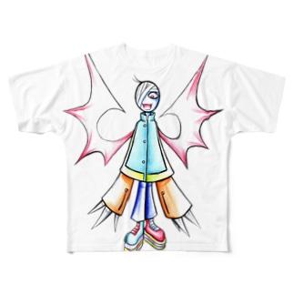 包帯羽男 フルグラフィックTシャツ