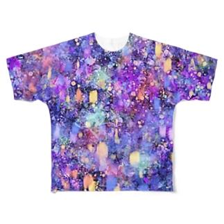 夢幻夜空 Full graphic T-shirts
