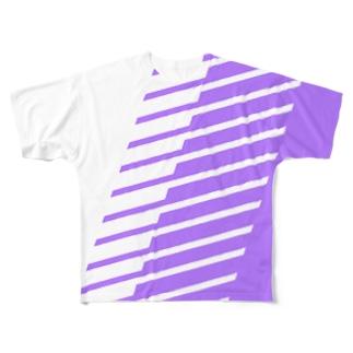 紫 Full graphic T-shirts
