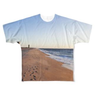 沈み行く大地 Full graphic T-shirts