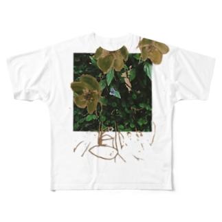 christmas rose moth Full graphic T-shirts