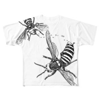 オオスズメバチ vs コガタスズメバチ Full graphic T-shirts