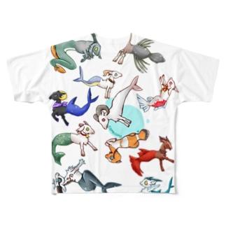 カプリコーン Full graphic T-shirts
