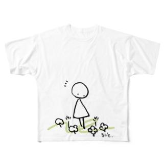 まるさんかくの日々 いいことみつけた Full graphic T-shirts