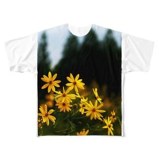 菊芋と樹木 DATA_P_139 tree Full graphic T-shirts