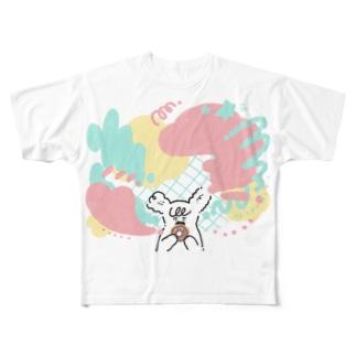 Vivid Donuts  Full graphic T-shirts