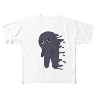 漠然くん Full graphic T-shirts