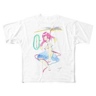ココシバ×絶景書店 Full graphic T-shirts